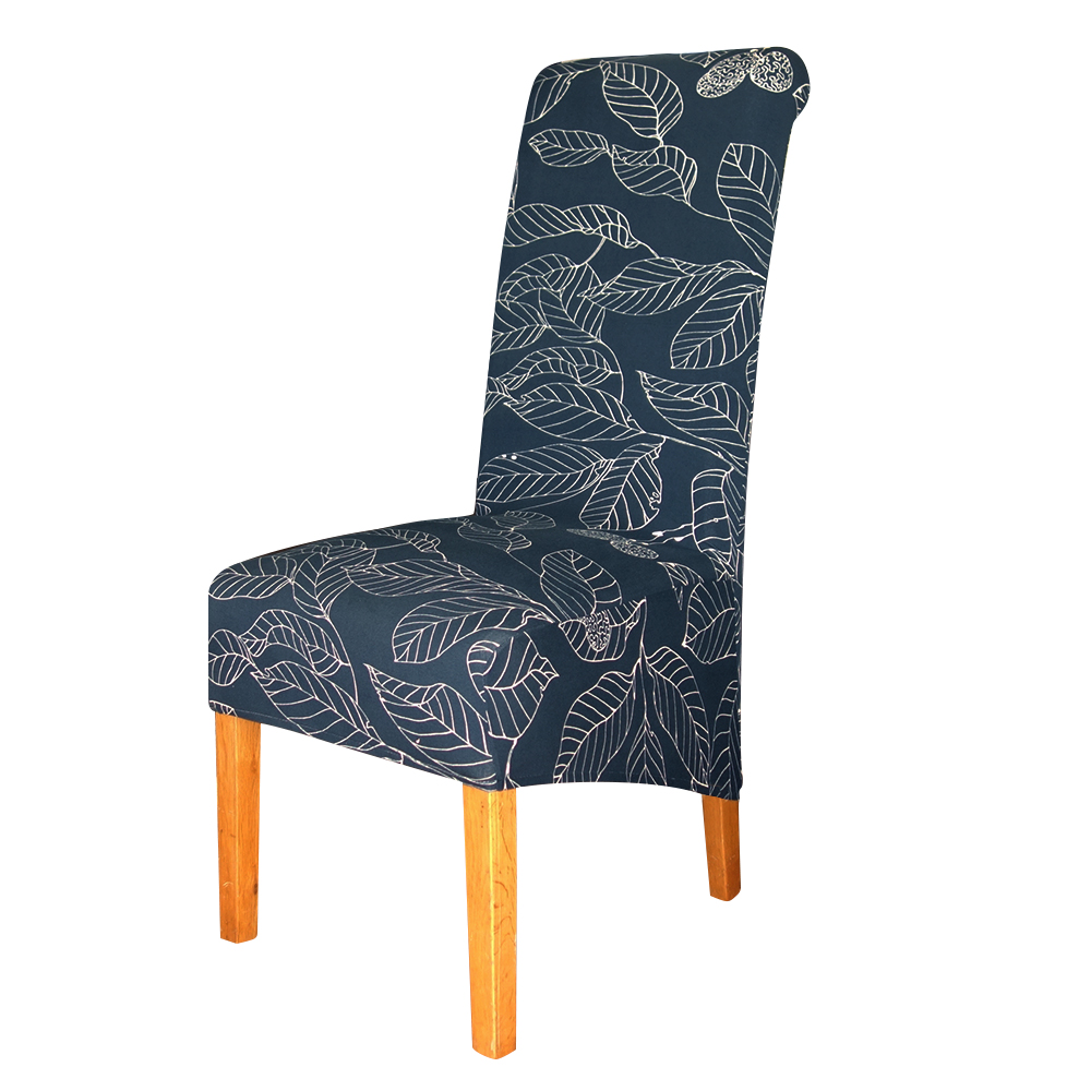 Navy Long Back Dining Chair Cover - Premium Dining Chair ...